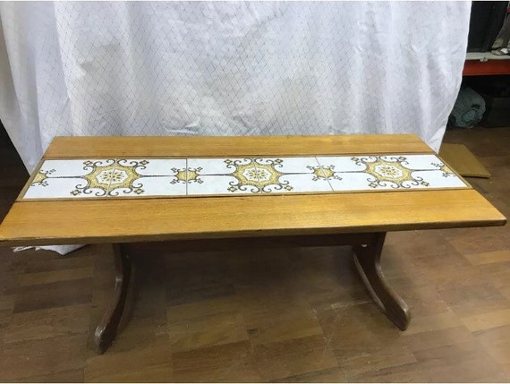 G Plan retro/vintage tiled coffee table