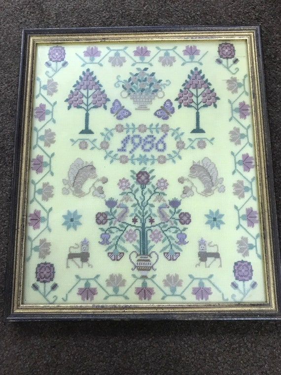 Framed Embroidery picture from 1986