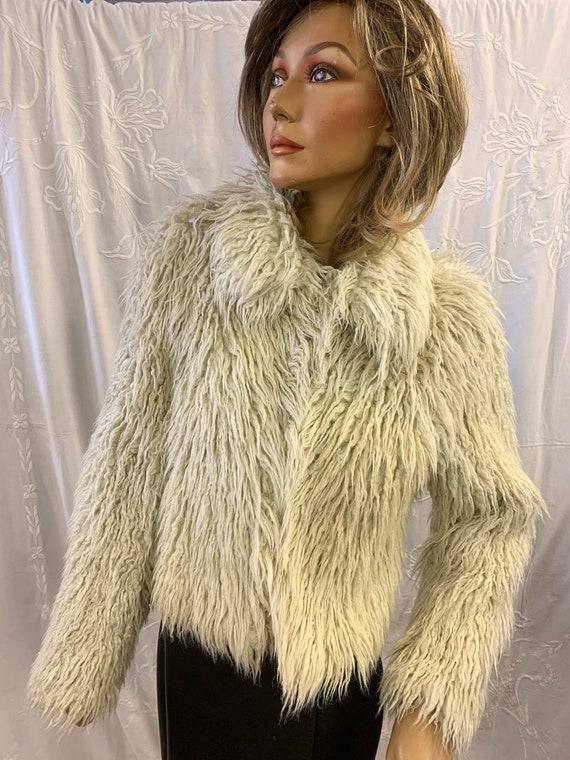 Vintage Faux fur Jacket  size Uk 10