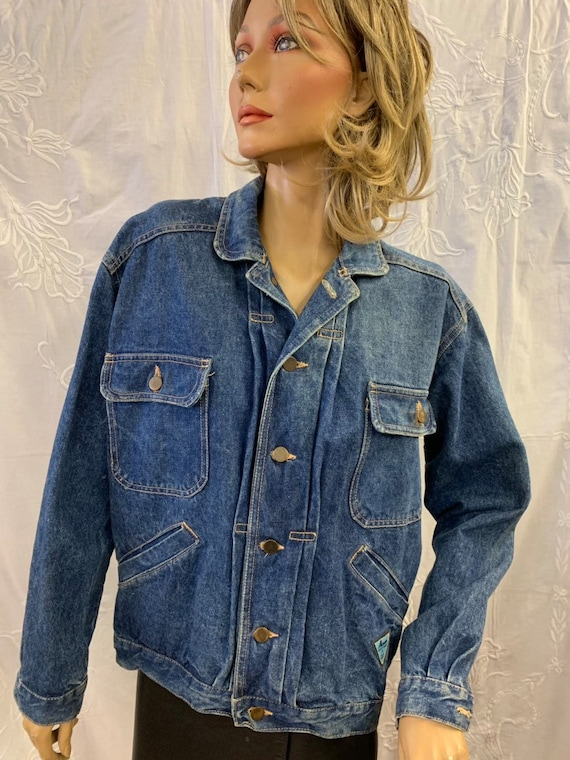 Vintage Airport denim jacket size uk large