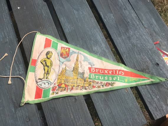 Vintage Pennant flag of Brussels