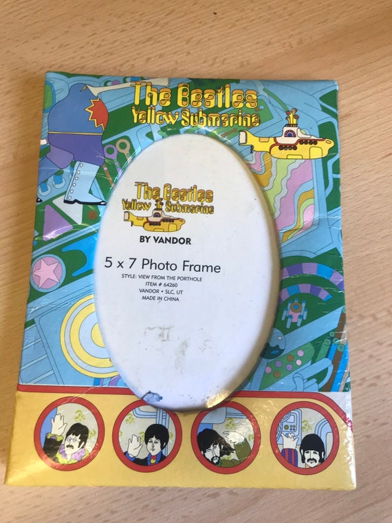 Rare The Beatles Yellow Submarine photo frame