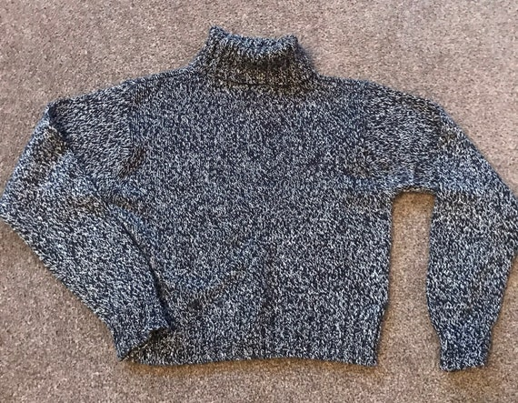 1980's Vintage belly cropped roll neck jumper size 10...by St.Michael