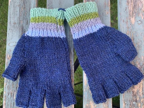 Vintage hand knitted fingerless gloves