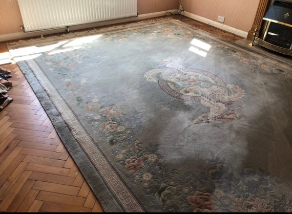 Stunning pure wool hand tufted chinese rug