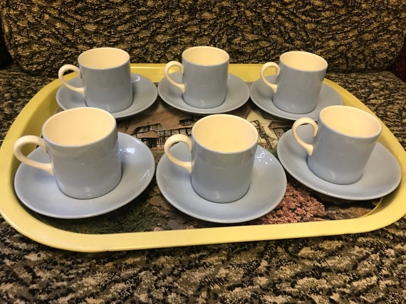 Wedgewood 'Summer Sky' set of six coffee cups and saucers
