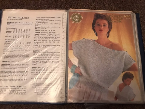 Vintage book of 32 knitting patterns