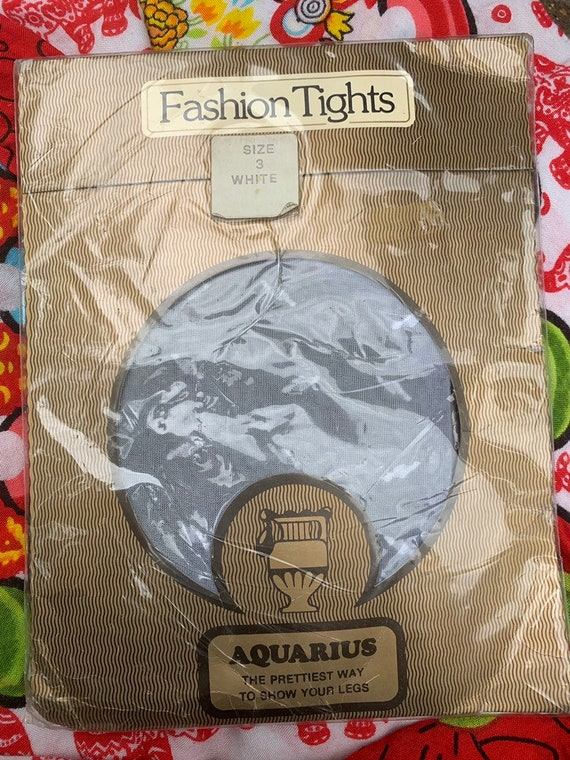 Aquarius white patterned  tights size