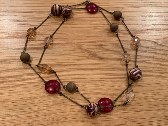 Gorgeous 1980's vintage beaded necklace