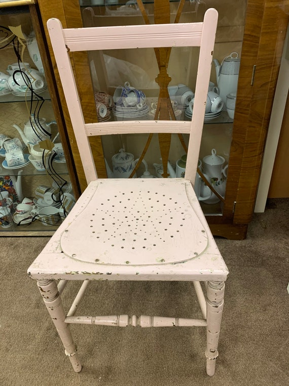 1950's chair with star and circular pattern seat buyer to collect or arrange courier