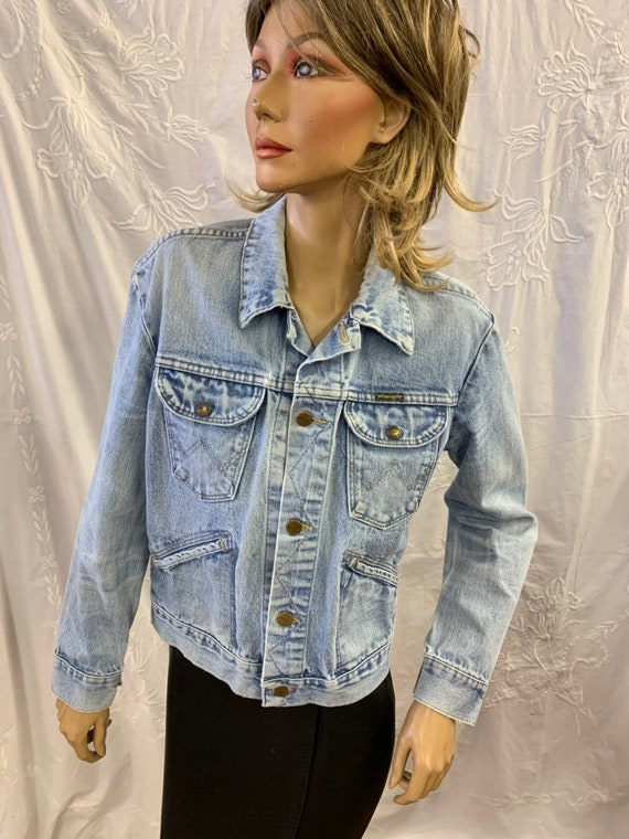 Vintage Wrangler denim jacket size 38 uk10/12