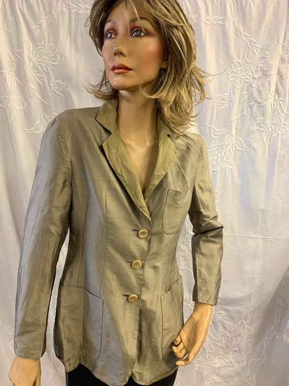 Moschino Raw SIlk And Linen Jacket SIze UK 8