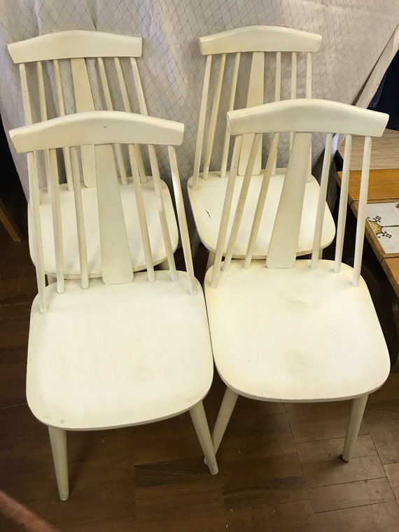 Set of four 1970's retro/vintage kitchen chairs