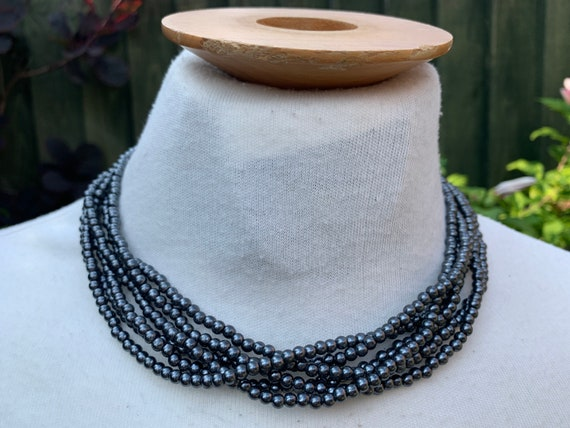 Vintage 1960's multi strand beaded necklace