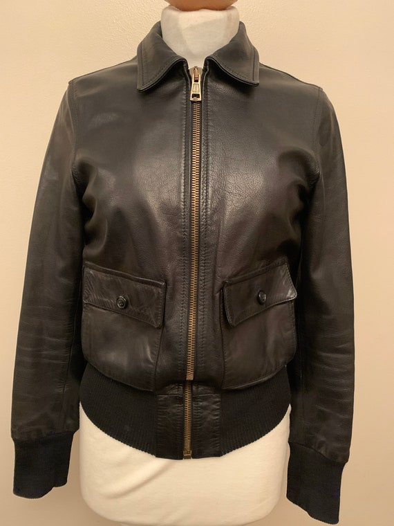 1950's Style Leather Bomber Jacket- by Vintage 55-Limited edition 'History Repeating'