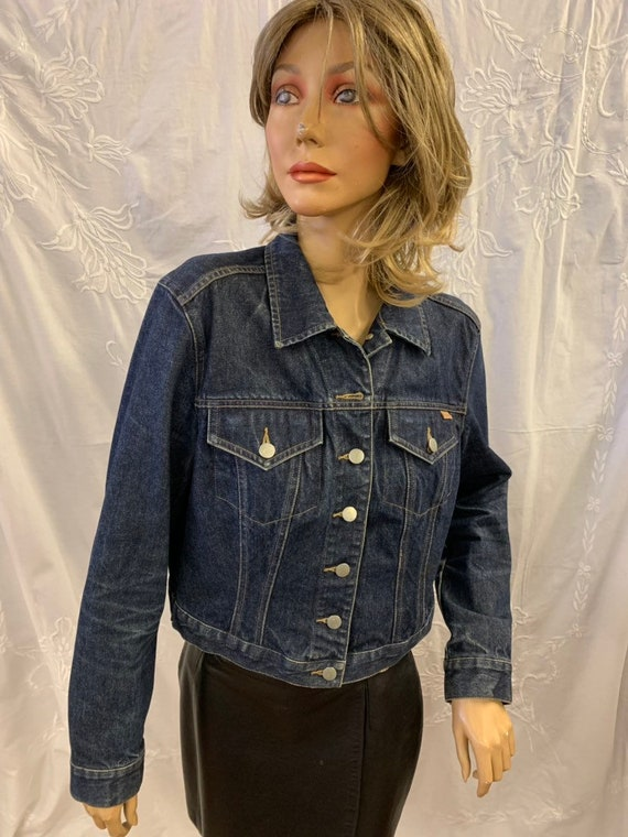 Vintage French Connection  Fcuk  denim jacket size uk  L (more like a uk 12)