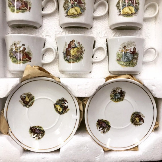 Vintage kingcraft porcelain miniature tea set