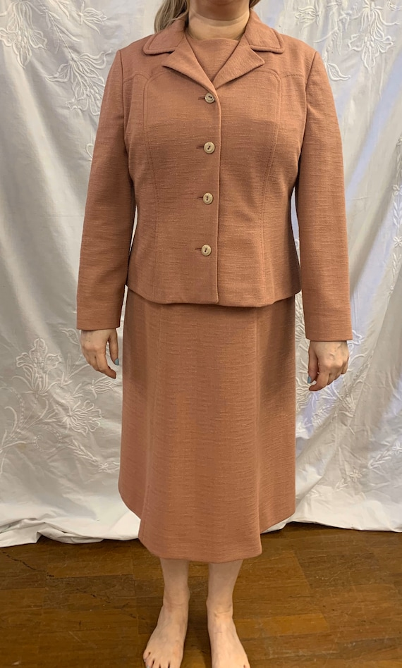 Vintage 1980's two piece dress suit size 14-16