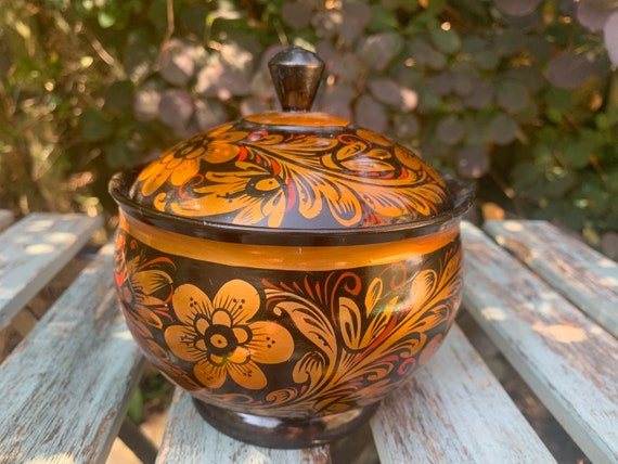 Vintage Hand painted small pot