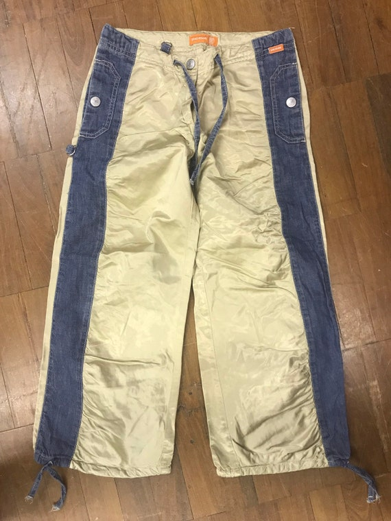 Gold and denim 3/4 length trousers size 28w