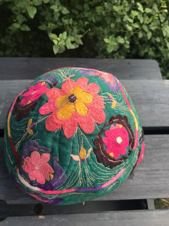 Vintage Hand made, hand embroidered hat.
