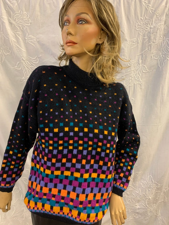 1980's Vintage square jumper size large made by Tulchan