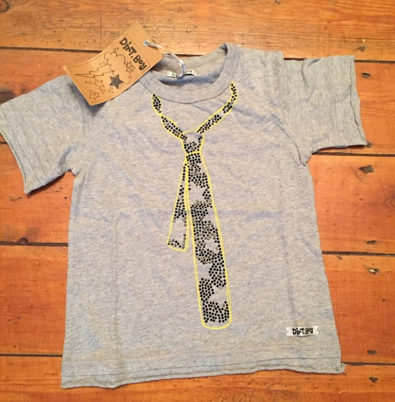 Dirt boy t shirt age 2-3 Tie design