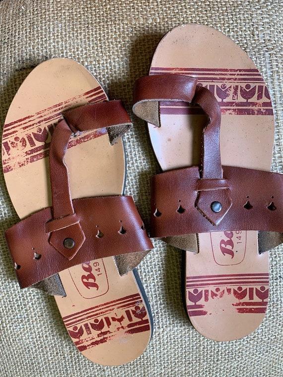 Vintage Indian leather sandals size uk 7