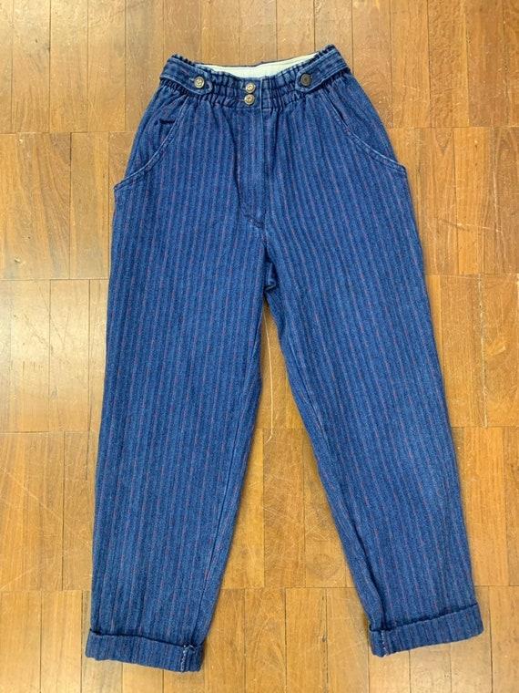 Vintage St.Michael red strip jeans size 10