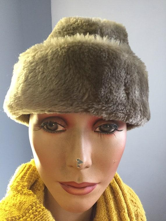 1960's vintage faux fur winter hat