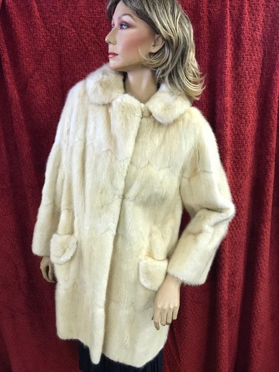 Vintage blonde mink fur coat size uk 12-14