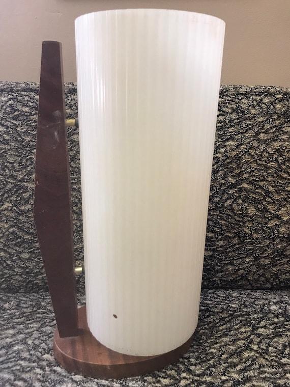 Original mid century plastic circular lamp