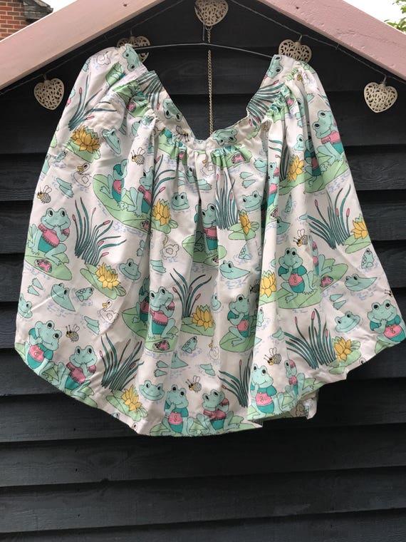Hand made  vintage frog fabric skirt