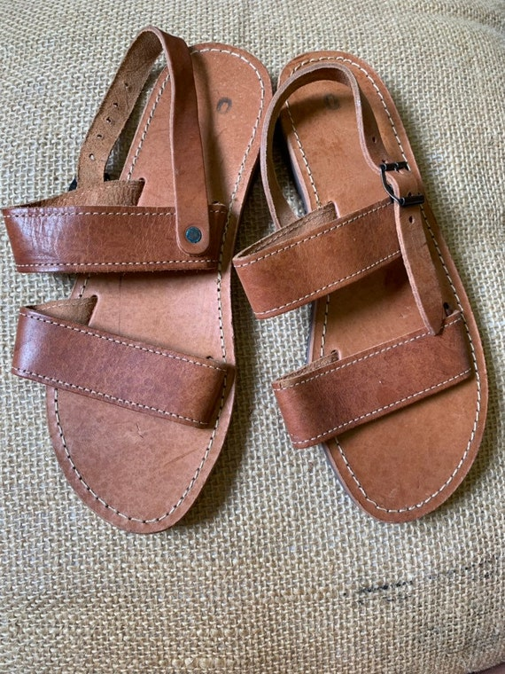 Vintage leather sandals size uk 6/6.5
