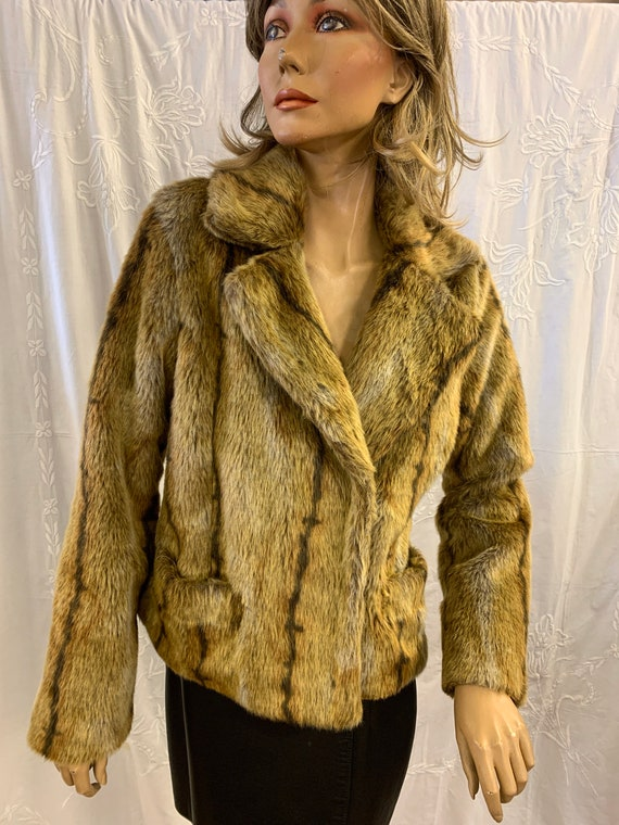 Vintage Faux fur Jacket by H & M size Small
