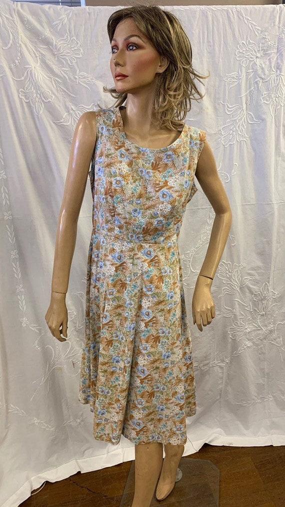 Vintage 1980's summer dress from Berkertex size Uk16