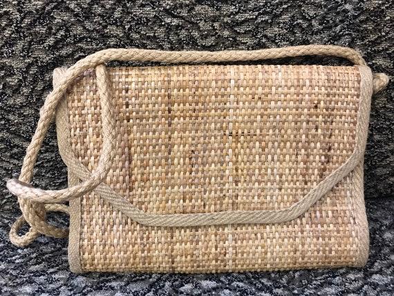 Stunning 1980's woven wicker handbag