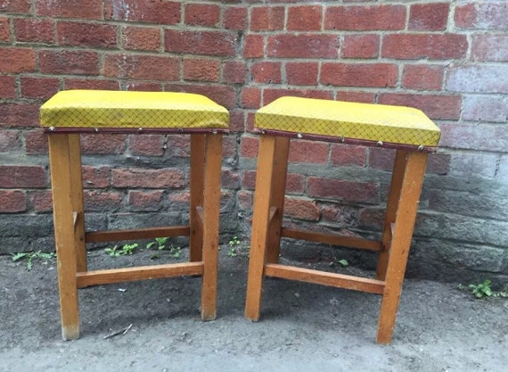 Pair of 1960's stools- buyer to collect