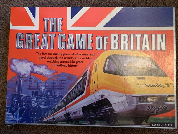 Vintage 1980's board game 'The great game of Britain' 150 years of railway history