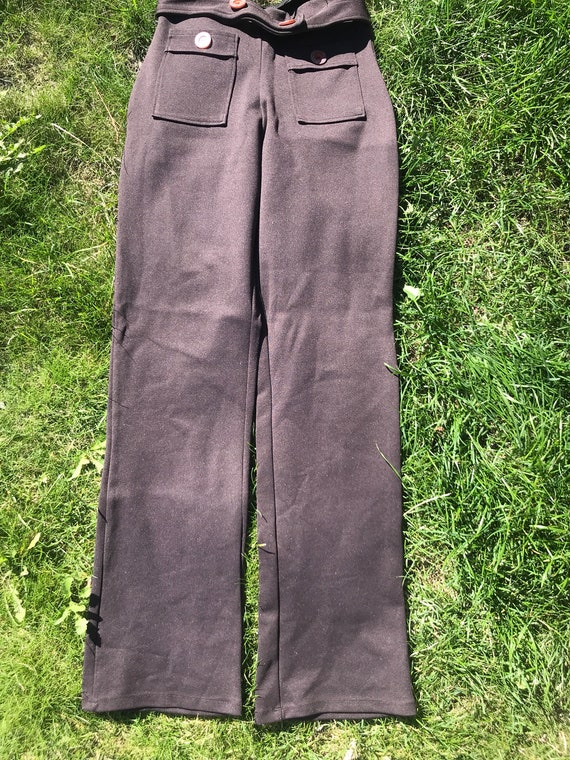 Brown high waisted trousers from the 90's