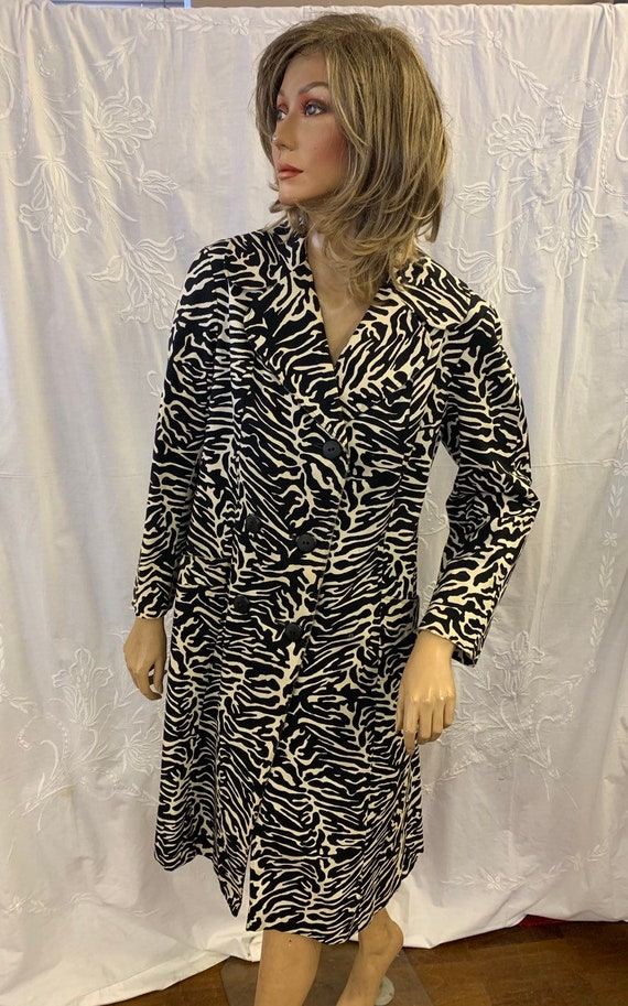 Aquascutum Vintage zebra print coat size uk 14