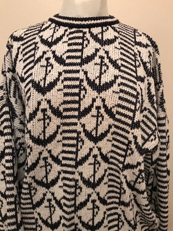 "Vintage 1980's maritime woollen  jumper froms St.Michael size 44"" chest"