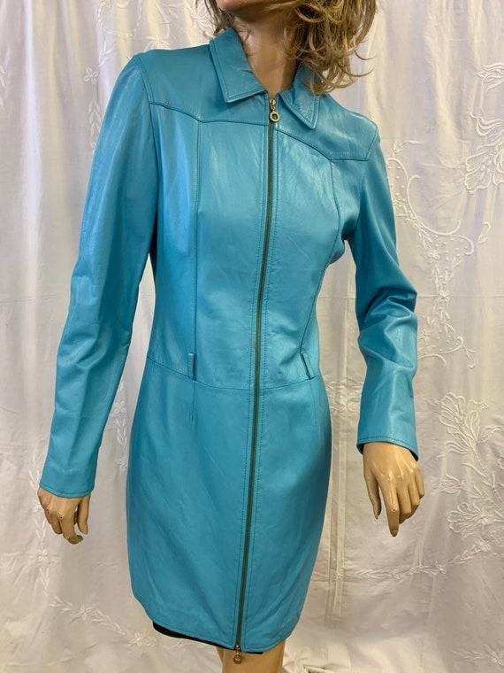 Versace Vintage leather coat size