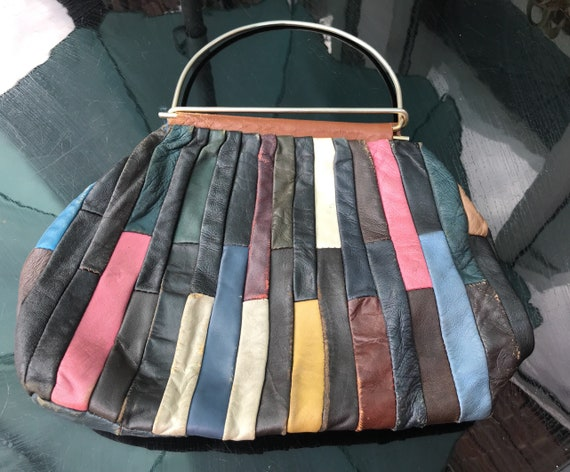 Beautiful vintage patchwork handbag