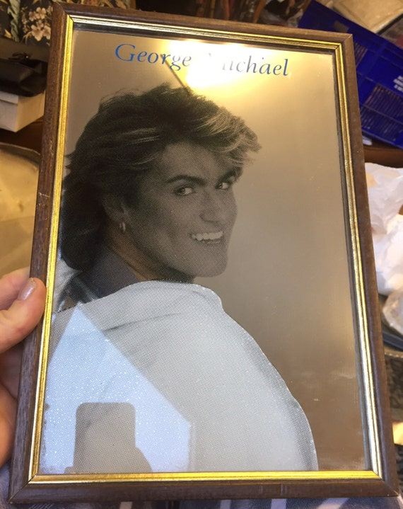 Rare 1980's Geroge Michael mirror