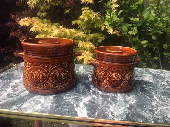Pair of Ellgrave Saxony casserole dishes/soup tureens.