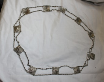 Vintage Metal Square Chainlink Bellychain