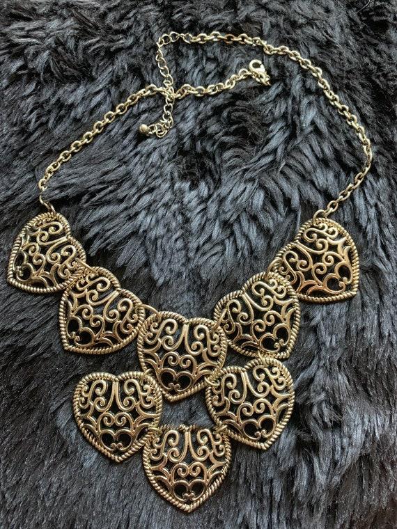 Vintage Linked Heart necklace