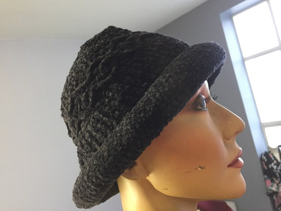 Vintage chenille wool hat