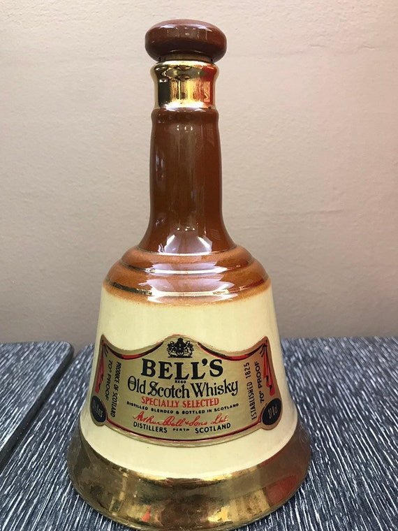 Vintage bells whisky old scotch bottle made by Bells